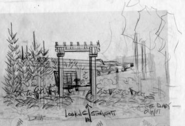 pergola drawing-conceptual