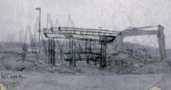 pergola drawing in pencil
