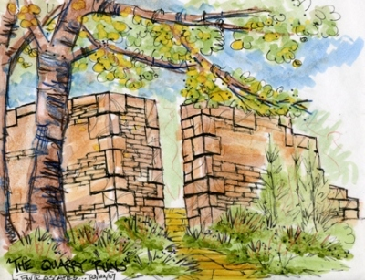 color rendering of ruins