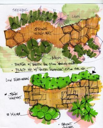 plan view landscape drawing