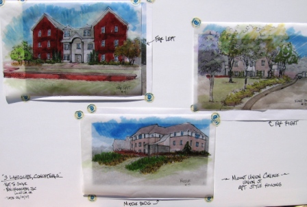 Color rendering for landscapes on all 3 buildings