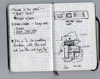 sketch in a Moleskine