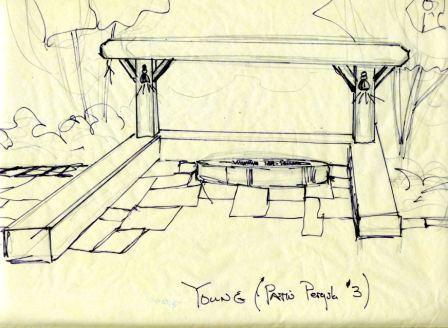 initial concept for pergola