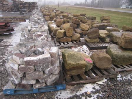 slavage-yard, barn-stone, granite curbing