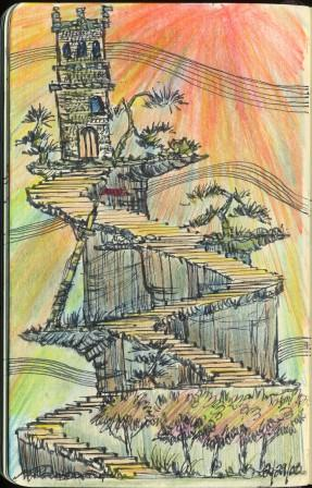 Hard to Landscape, pencil-sketch
