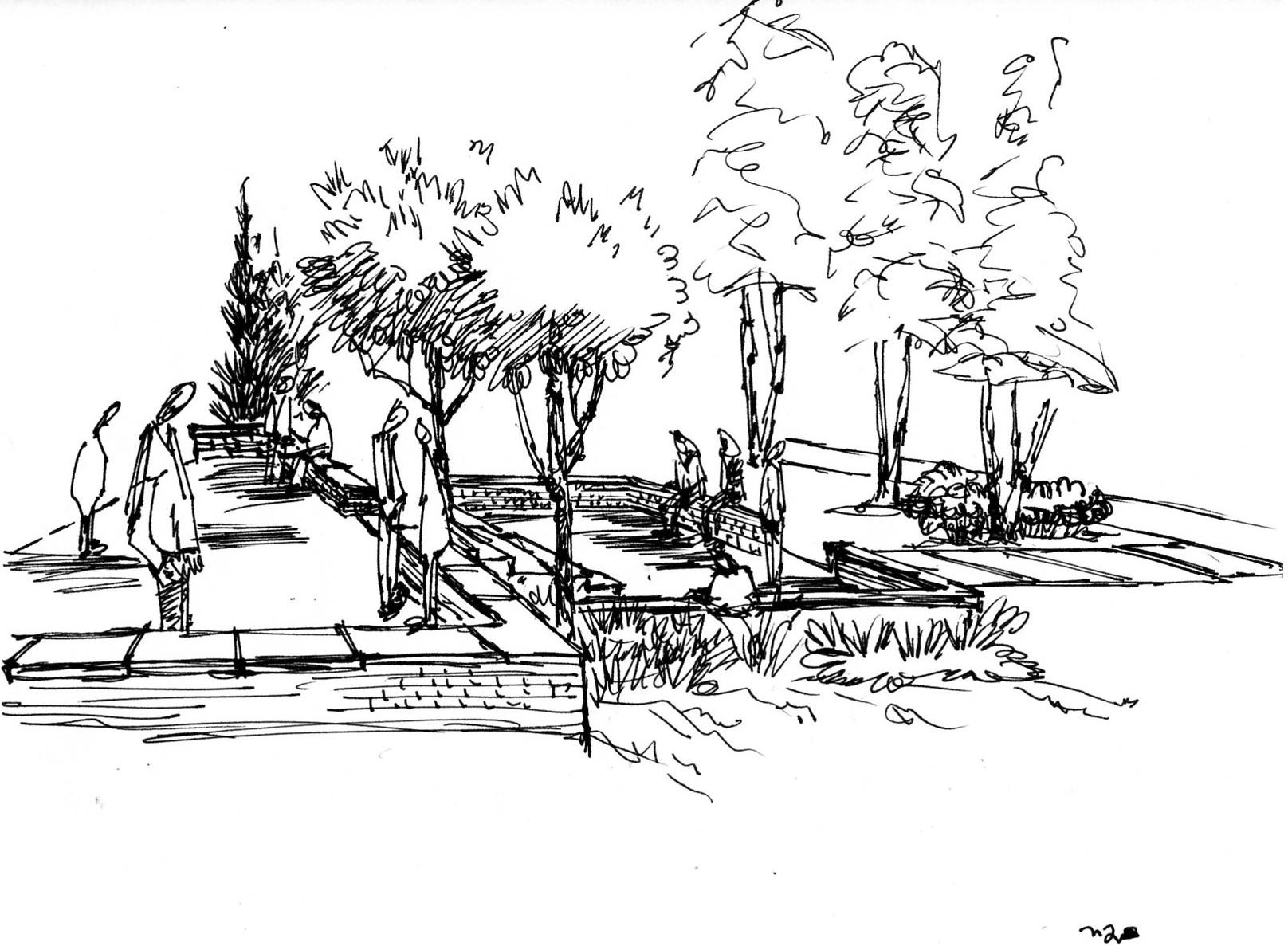 Line Drawing Landscape : Simple line drawing landscape imgkid the image