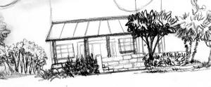landscape rendering, garden design, 2dimensional design