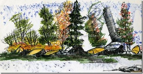 PITT, PITT artist pens, Faber Castell, markers, garden design