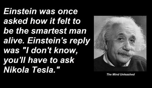 Einstein, on Tesla