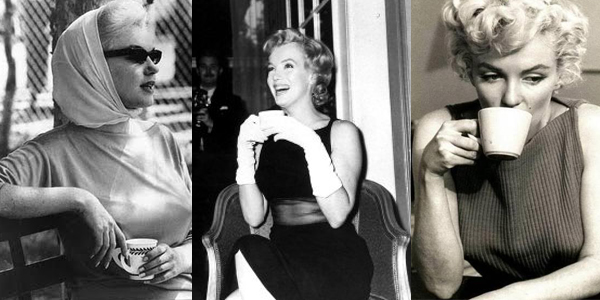 Marilyn Monroe and her coffee