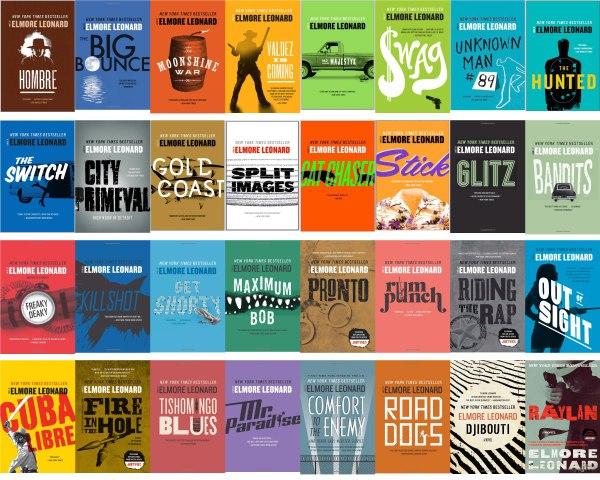 Elmore Leonard - Bookcovers