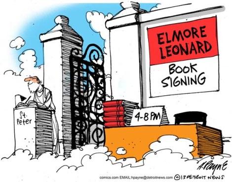 Elmore Leonard via Henry Payne